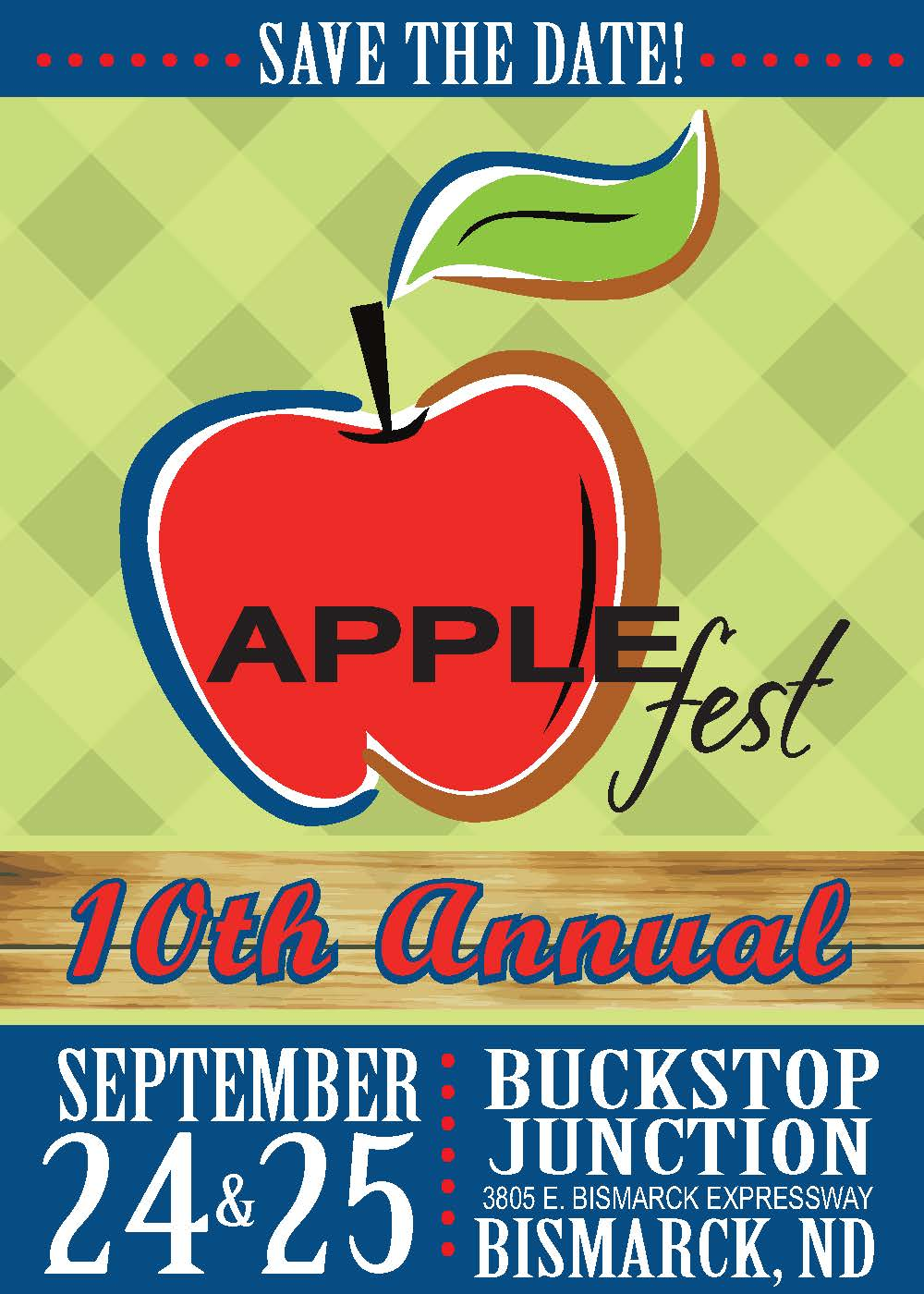 Applefest save the date graphic